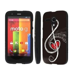Verizon Boost Mobile Motorola Moto G Phone Cover Case - Music Love Note