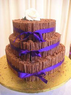 Chocolate Flake heart shaped wedding cake by cacamilis, via Flickr #chocolateweddingcakes