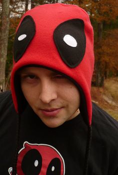 Deadpool and Lady Deadpool Hat Large by NRamsey on Etsy, $25.00