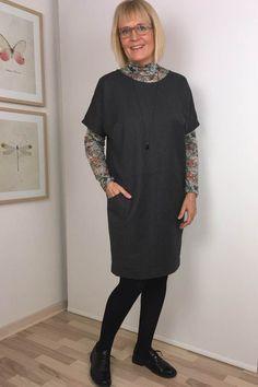 Mønster og vejledning til nem oversize kjole. Str 40. Model 1. | sygal