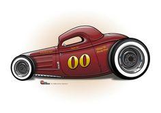 (2) The CARtoon Speed Shop Rat Fink, Weird Cars, Cool Cars, Hot Rods, Vintage Cars, Antique Cars, Car Prints, Kart, Garage Art