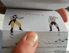 GIF: EPIC Mortal Kombat flipbook