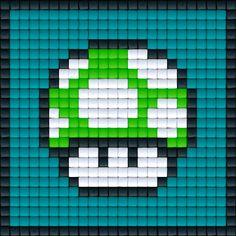 Mario Paddenstoel Groen | Pixel Party