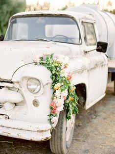 flower garland truck decor