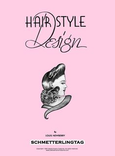 1940s Hairstyle Design Book Pinup Girl by schmetterlingtag on Etsy, $19.99