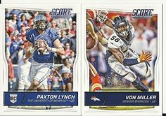 2016 Panini Score Football Denver Broncos Team Set 15 Cards W/Rookies Paxton Lynch Peyton Manning