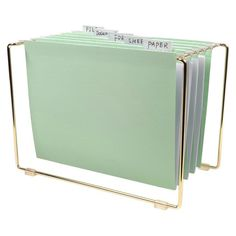 Mint Tabletop File: http://www.stylemepretty.com/living/2015/11/10/the-best-office-supplies-to-dress-up-your-desk/