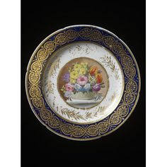 Coalport Plate 1810 painted by William Billingsley