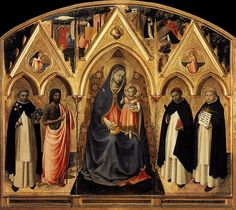 San Pietro Martire Triptych - Fra Angelico, his first documented work for the convent of San Domenico, Fiesole.