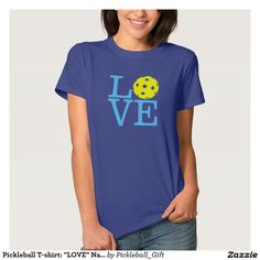 "Women's ""I Love Pickleball"" T-shirt  #pickleball #tshirt"