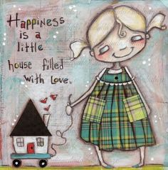 Print of my Original Mixed Media Painting by Diane Duda - Happy Little House on Etsy Kunstjournal Inspiration, Art Journal Inspiration, Mixed Media Painting, Mixed Media Art, Stencil, Drawing Lessons, Drawing Quotes, Drawing Ideas, Collage Art
