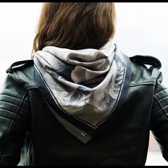 Leather and scarf