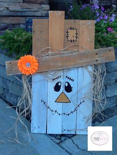 Hey, I found this really awesome Etsy listing at https://www.etsy.com/listing/246927009/handpainted-pallet-scarecrow-fall-door