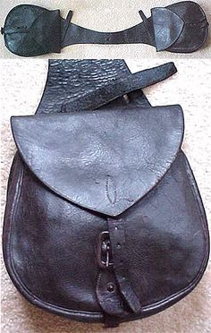 Scully Men's Accessory: A Leather Saddle Bag | mens bags | Leather saddle bags. Saddle bags. Bags