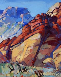 Red Rock Canyon Oil Painting by Erin Hanson