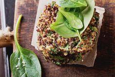Quinoa Paneer Burger #recipe #vegetarian #veggieburger