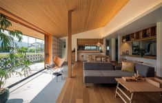 【厳選間取り実例20選】#03~#08 リビング・キッチン 編   住まいのお役立ち情報【LIFULL HOME'S】 Japanese Home Design, Japanese Interior, Japanese House, Best Interior, Room Interior, Modern Home Offices, Green House Design, Interior Decorating, Interior Design
