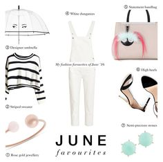 June favourites '16 - Fashion by rachaelselina on Polyvore featuring polyvore fashion style M.i.h Jeans Zara Fendi Michael Kors Panacea Kate Spade clothing stripedshirt