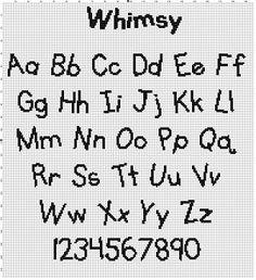Kids Font Collection Cross Stitch Pattern by SnarkyArtCompany