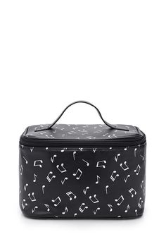 Metallic Musical Note Cosmetic Case