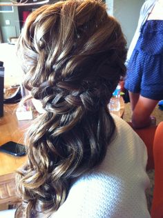 sideswept with a braid