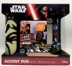 Star Wars Disney Activity Accent Rug 26.3 x 39.5 inch with Picture Frame New #Disney