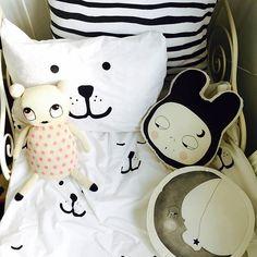 Pillow love!  #pillows #moon #moonpillow #tellkiddo #bedding #oohnoo_official…
