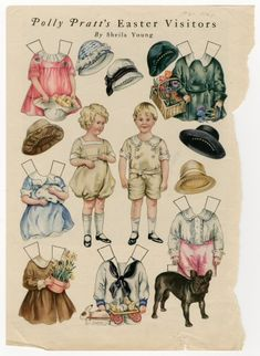 86.3056: Polly Pratt's Easter Visitors | paper doll | Paper Dolls | Dolls | National Museum of Play Online Collections | The Strong