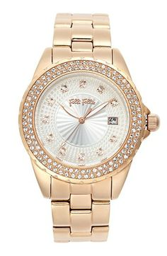 Folli Follie 'Daydream' Crystal Bezel Bracelet Watch, 41mm available at #Nordstrom