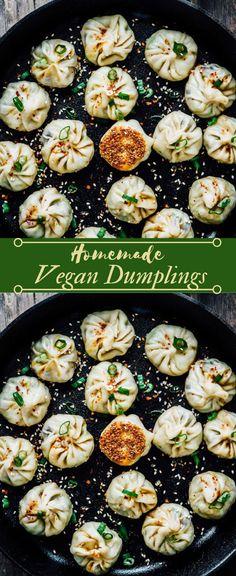 Homemade vegan dumplings # vegetarian # vegan # homemade # food # breakfast - New Sites Tasty Vegetarian Recipes, Vegan Dinner Recipes, Veggie Recipes, Whole Food Recipes, Cooking Recipes, Healthy Recipes, Healthy Vegetarian Dinner Recipes, Easy Vegan Meals, Healthy Vegan Recipes