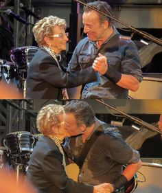 Bruce & his Mom, Adele! How sweet is this?!