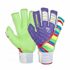 Florcient And Purple Color Goal Keeper Gloves