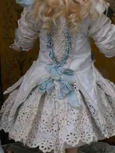 ~~~ Pretty French White Pique Dress with Bonnet ~~~ from whendreamscometrue on Ruby Lane