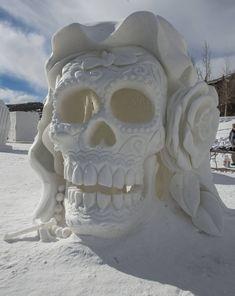 Skull Ice Sculpture