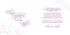 Die Einladungskarte zur Hochzeit im Quadrat-Format überzeugt auf erster Linie: Verspielte Ornamente und Blumen lassen Ihre Hochzeit erblühen
