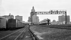 NH, Providence, Rhode Island, 1950-1955 New York, New Haven and Hartford Budd passenger train at the Union Depot in Providence, Rhode Island, some time between 1950 and 1955. Photograph by Leo King, © 2016, Center for Railroad Photography and Art. King-01-033-004