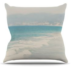 Waves by Laura Evans Throw Pillow