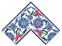 Border Tiles, Turkish Tiles, Istanbul, Floral Design, Ottoman, Corner Border, Cards, Painting, Floral Patterns