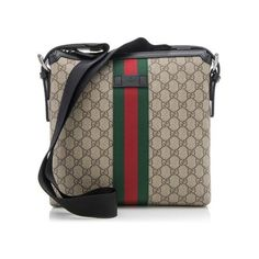 0302fa09f87dbb Rental Gucci GG Supreme Web Messenger Bag ($100) ❤ liked on Polyvore  featuring bags