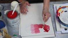 In this video, I'll show you how I lighten a chalk paint by adding a color, like white to emperor silk (red). Mixing chalk paint can be intimidating - it's e...
