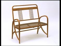 Settee | Made in Vienna ca. 1905 | Manufacturer: Gebrüder Thonet Gebrüder Thonet (Thonet Brothers) | Unfortunately, the designer is not known; the settee may have been a product of the Thonet design studio | VA Museum, London