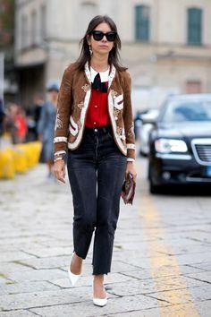 Street style с Недели моды в Милане