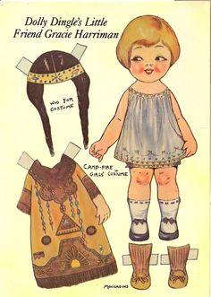 american indian - postcard - paper doll - 1 by sonobugiardo, via Flickr