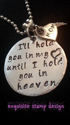 Hand stamped necklace, couldn't be more perfect for me. Missing my mom!! I want this!