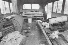 Inside 142 bus after they found Chris's body