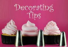 Cupcake Decorating 101: Cupcake Decorating Tips -- by BakeHappy