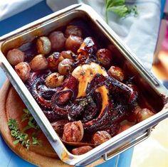 Octopus Recipes, Fish Recipes, Seafood Recipes, Cooking Recipes, Healthy Recipes, Vet Cake, Greek Cooking, Greek Recipes, Fish And Seafood