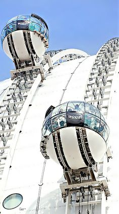 "Gondola lift, ""SkyView"", Ericsson Globe, Stockholm.                                                                                                                                                                                 More"