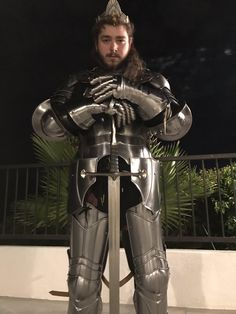 Post Malone in Knight Armor