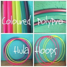 Coloured PolyPro Travel Hoops 16mm & 20mm